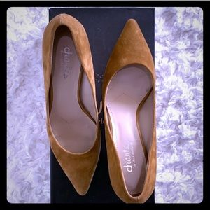 Point Toe Suede Leather Heels